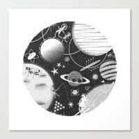 sport Canvas Prints featuring SPACE & SPORT by Kiley Victoria