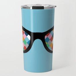 Diamond Eyes on Blue Travel Mug