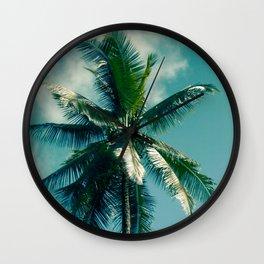 Coconut Palm Tree Keanae Maui Hawaii Wall Clock