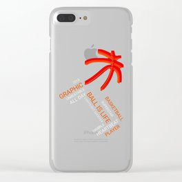 Graphic Basketball Statement Clear iPhone Case