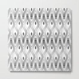 Art Deco 56 . black and gray spiral . Metal Print