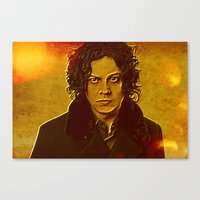 jack white Canvas Prints featuring Jack White by yahtz designs