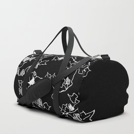 White ink, graphic art Duffle Bag