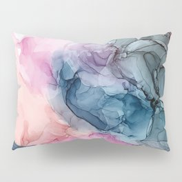 Heavenly Pastels: Original Abstract Ink Painting Pillow Sham