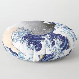 Great Wave off Kanagawa (HQ original) Floor Pillow