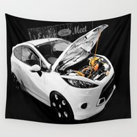 ford Wall Tapestries featuring Essex Ford Meet by VHS Photography