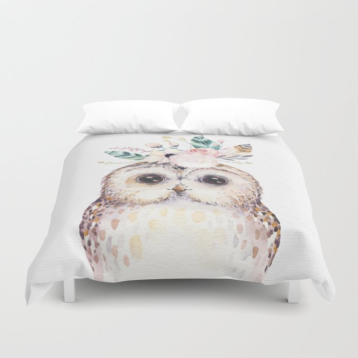 Forest Owl by Nature Magick Duvet Cover