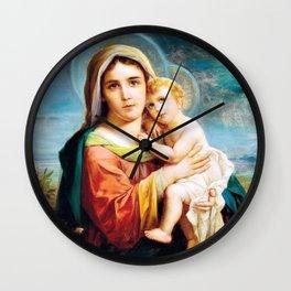 12,000pixel-500dpi - Madonna And Child - Hans Zatzka Wall Clock