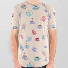 Tea Time All Over Graphic Tee