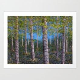 Spring Birch Grove Art Print