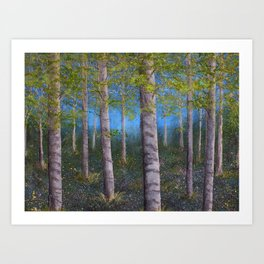 Spring Birch Grove Art Print