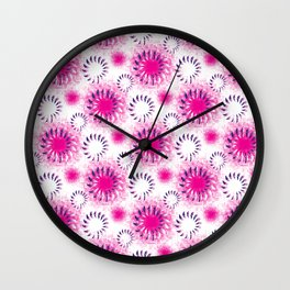 Fuchsia Twist Wall Clock