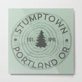 Stumptown Metal Print