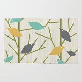Mid Century Modern Birdsong Rug