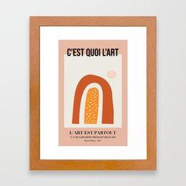 What Is Art - Version 01 Framed Art Print