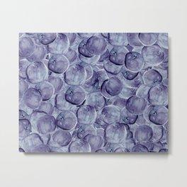 Blueberries Underfoot Metal Print