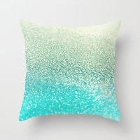 mint Throw Pillows featuring MINT by Monika Strigel