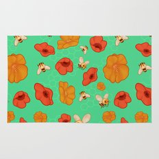 Poppies & Bees Rug