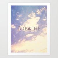 breathe Art Prints featuring Breathe by Rachel Burbee