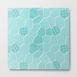 Trencadis Barcelona - Limpet Shell Metal Print