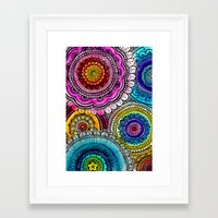 mandala Framed Art Prints featuring mandala by goyye