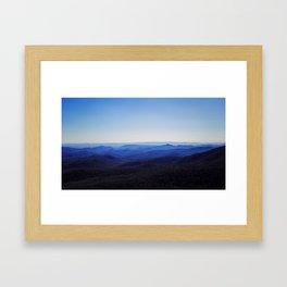 The Blue Ridge Framed Art Print
