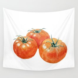 Three Tomatoes Wall Tapestry