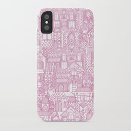 gingerbread town pink iPhone Case