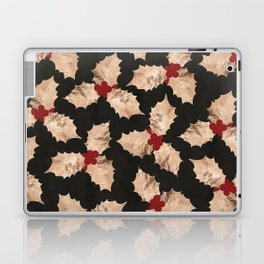 Christmas Gold and Red Holly Berry Laptop & iPad Skin