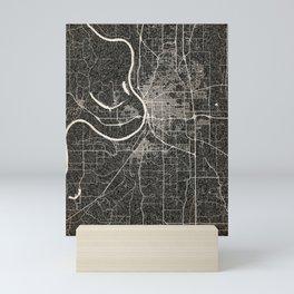 St. Joseph map Missouri Ink lines 2 Mini Art Print