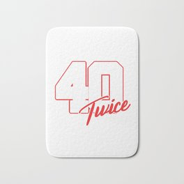Funny I Turned 40 Twice 80 Year Old 80th Birthday Bath Mat