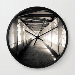 Bridging Lines Wall Clock