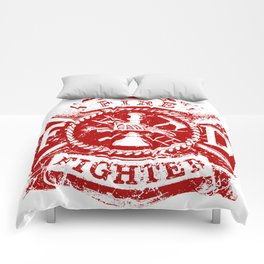 FIRE DEPARTMENT GRUNGE Comforters