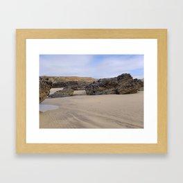 Godrecy Beach Cornwall Engand Framed Art Print