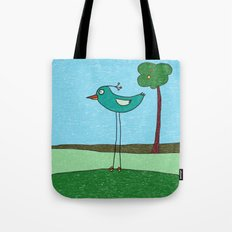 Tall Bird and a Tree Tote Bag
