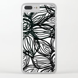 SQUIGGLY FLOWERS Clear iPhone Case