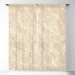 Butterscotch Silk Moire Pattern Blackout Curtain