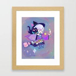 kuri witch Framed Art Print