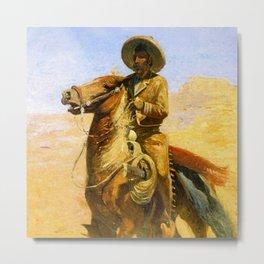 """Heading Up the Range"" By Edward Borein Metal Print"