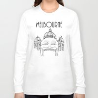 melbourne Long Sleeve T-shirts featuring Melbourne by Jeremy Buckley illustration