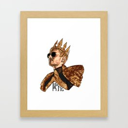 King Bill - Black Text Framed Art Print