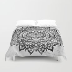 BLACK JEWEL MANDALA Duvet Cover