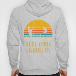 Vintage Reel Cool Abuelo Fish Fishing Father's Day Hoody