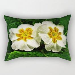 White Primrose at Barthels Farm Market Rectangular Pillow