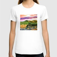 the lord of the rings T-shirts featuring Lord of the Rings Hobbiton by KS Art & Design
