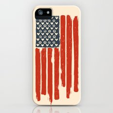 Red and Blue and White Slim Case iPhone (5, 5s)