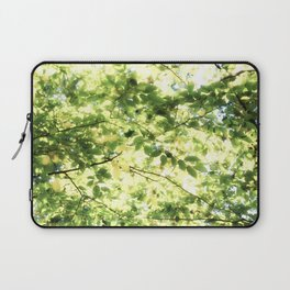 Bright Day-green leaves Laptop Sleeve
