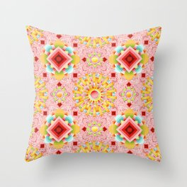 Pink Paisley Sunshine Throw Pillow