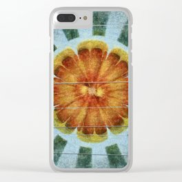 Bacterially Pattern Flower  ID:16165-042044-49241 Clear iPhone Case