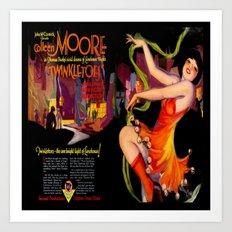 Vintage Film Advert of 1926 - Colleen Moore Art Print